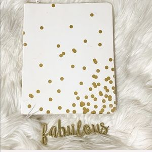 Kate Spade gold bubbles gold spiral notebook